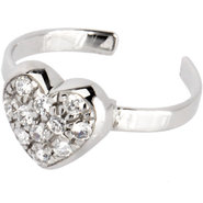 Sterling Silver 925 Cubic Zirconia ENCRUSTED HEART