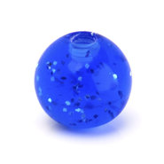 Blue Glitter UV Replacement Ball - 6mm