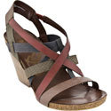 Ladonia Dark Brown Multi Women's