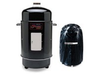 28-in. Gourmet Charcoal Smoker/Grill with Vinyl Co