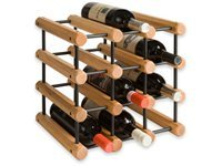 12-bottle Wine   Rack, Laquered Oak/Black