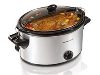 6-qt. Stay or Go Slow Cooker, Black &amp; Stainless St