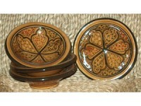 Set of 4 Round Honey Sauce Dishes