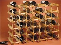 40-bottle Wine Rack, Natural Wood