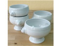 Set of 4 Soup Bowls, White