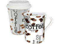 2-pc. Coffee To Stay & Go Mug Set, Coffee Collage