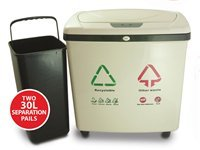 2-Compartment Recycle Touchless Trash Can NX, Off-