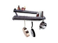 36-in. Premier Bookshelf Pot Rack with Spice Shelf