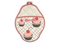 7x10.5-in. Cherry Cupcakes Scalloped Pot Mitt