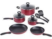 10-pc. Get-a-Grip Cookware Set, Red