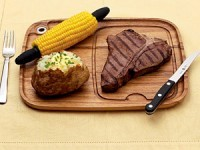 11x13 Wood Steak Serving Plate