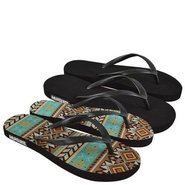 Muk Luks Flat Flip Flo Sandals (Black) - Women's S