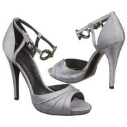 Devote Shoes (Silver Silk Shantung) - Women's Shoe