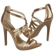 Melody Shoes (Tan/Gold Snake) - Women's Shoes - 9.