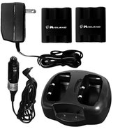 Midland AVP-4 Desktop Charger w/ 2 Rechargeable Ba