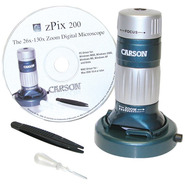 zPiX 200 USB Digital Microscope with 26 x ?130 x O