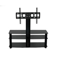 AVS106BK Wide 3 shelve Plasma TV stand Up To 52 In