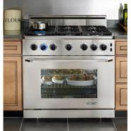 Epicure 36  Gas Range with Backguard and Island Tr