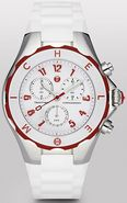 Tahitian  Large White with Red Ladies   Watch MWW1