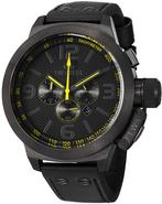 COOL BLACK Leather Chronograph 50MM Mens Watch TW9