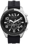 Exchange Black Silicone Chronograph Mens Watch AX1