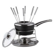 695478 Saucepan W/ Glass Lid And Fondue-set