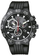 Eco-Drive Chronograph Rubber Mens Watch AT2095-07E