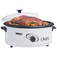 4816-14 6 Quart Roaster Over White - Porcelain Coo