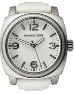 White Rubber Mens Watch MK7050