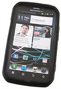 Black Silicone Skin Case For Motorola Electrify, P