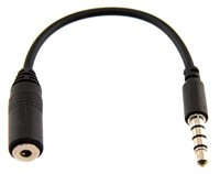 Universal 3.5mm Male to 2.5mm Female Headset Adapt