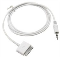 Dock to 3.5mm Audio Cable For Apple iPhone, iPod,