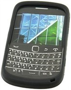 Black Silicone Skin Case For BlackBerry Bold 9900