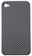 Black Perforated Back Cover For Apple iPhone 4S