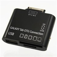 Black Card Reader With USB Port For Samsung Galaxy