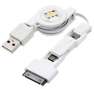 3-in-1 Retractable USB Cable