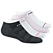50/50 Textured No-Show Socks 4 PR