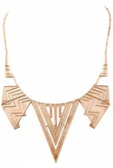 Chevron Five Station Necklace in Rose Gold