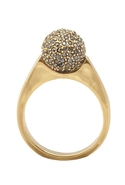 Orb Ring with Hematite Diamond Pave - Gold - 6