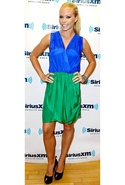 Two Tone Tulip Dress - Blue/Green - Large