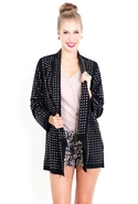 SALE-Blaque Label Long Studded Jacket - Black - Sm