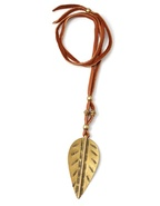 Ayasha Leaf Bead Necklace - Brown