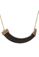 Horizontal Horn Necklace - Gold