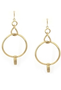 SALE-Belle Noel Chandelier Hoop Earrings - Gold