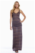 Racerback Maxi Dress - Navy Stripe - Large