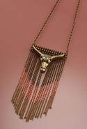 SALEWildfox Couture Antique Fringe Necklace with G