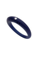 DUEPUNTI Diamond Ring in True Navy