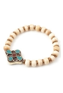 Ramro Pendant Bracelet in Bone White