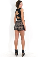 SALE- Finders Keepers Electric Kiss Playsuit - Bla
