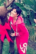 I Am Love L2L Hoodie in Berry as Seen On Kris Jenn